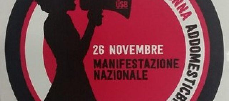 26 novembre Manifestazione nazionale contro la violenza sulle donne