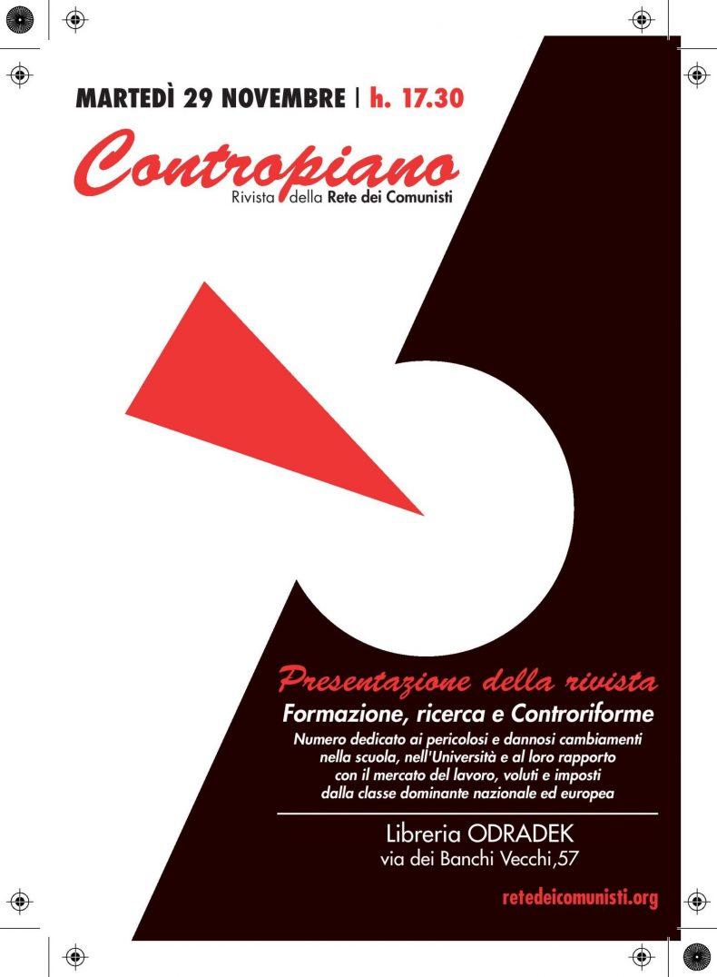 """Presentazione rivista """"Contropiano"""" – 29 novembre 2016 Roma – ASCOLTA GLI INTERVENTI"""