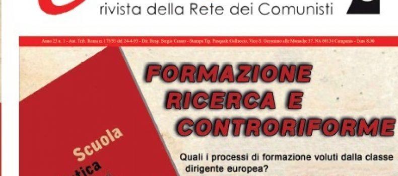 """Presentazione della rivista """"CONTROPIANO"""" 29 novembre Roma"""