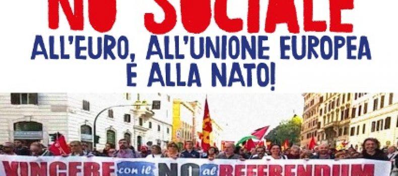 Conferenza stampa della piattaforma Eurostop, in vista della manifestazione del 25 marzo.