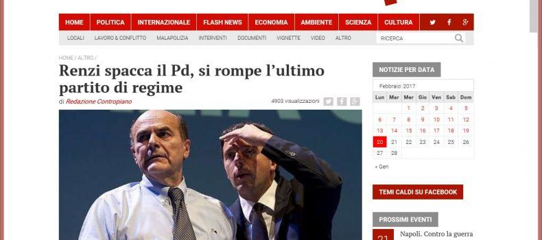 Renzi spacca il Pd, si rompe l'ultimo partito di regime – Contropiano