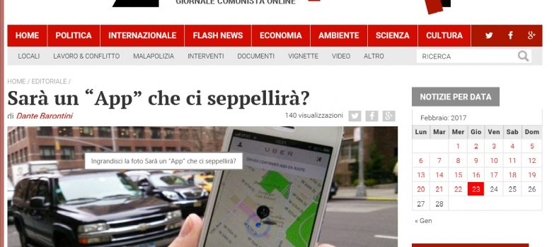 """Sarà un """"App"""" che ci seppellirà? – L'editoriale di Contropiano"""