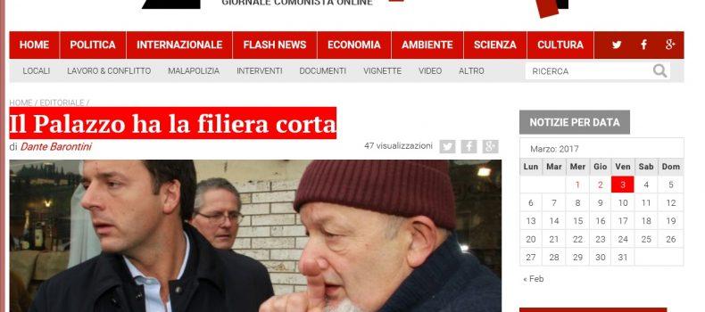 Il Palazzo ha la filiera corta – L'editoriale di Contropiano