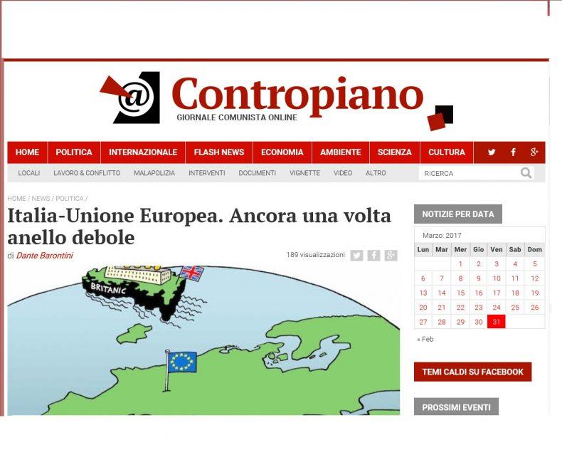 Italia-Unione Europea. Ancora una volta anello debole – Contropiano