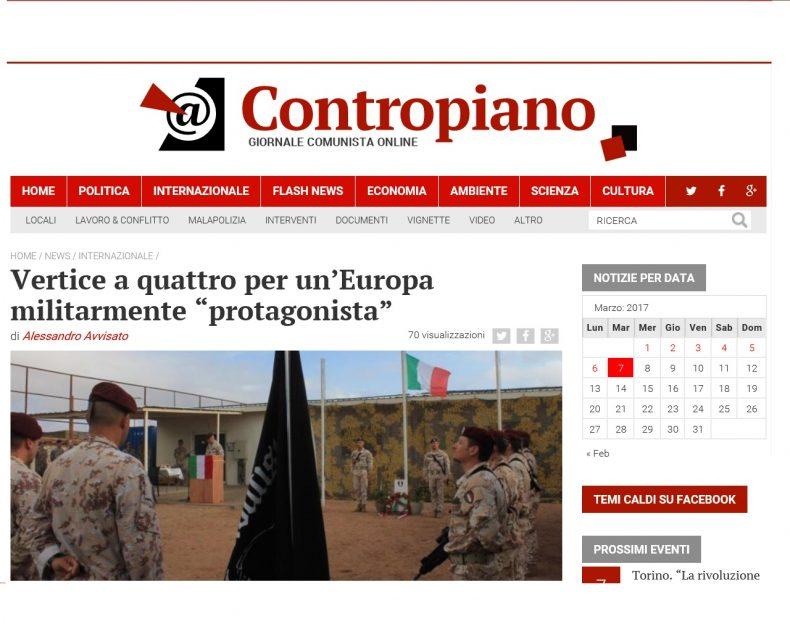 """Vertice a quattro per un'Europa militarmente """"protagonista"""" – Contropiano"""
