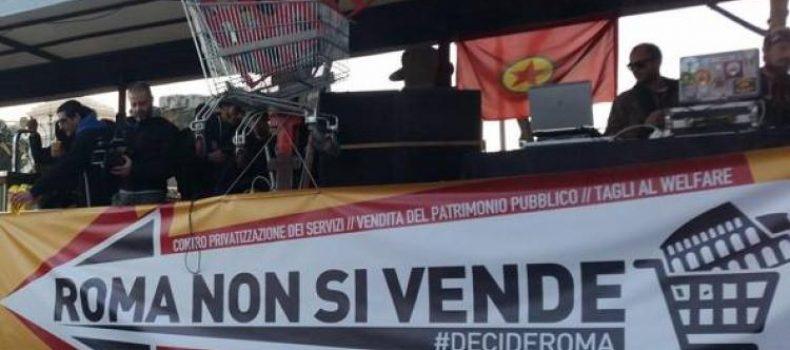 La città solidale non si mette a bando! Le corrispondenze da piazza del Campidoglio.