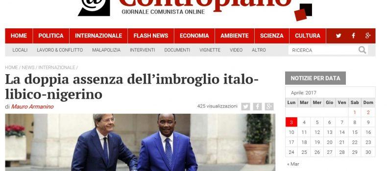 La doppia assenza dell'imbroglio italo-libico-nigerino – Contropiano