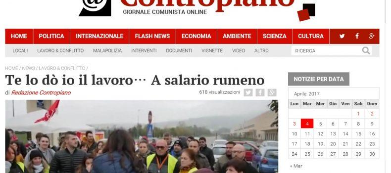 Te lo dò io il lavoro… A salario rumeno – Contropiano