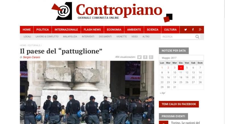 """Il paese del """"pattuglione"""" – L'editoriale di Contropiano"""