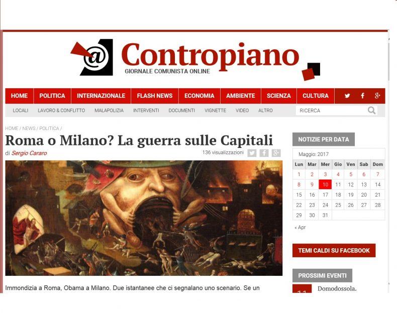 Roma o Milano? La guerra sulle Capitali – Contropiano