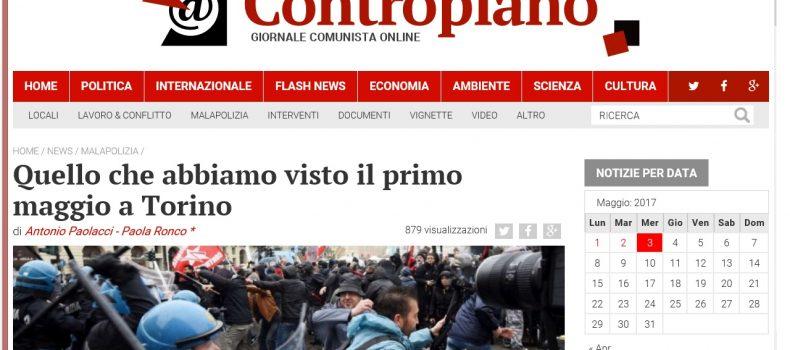 Quello che abbiamo visto il primo maggio a Torino – Contropiano
