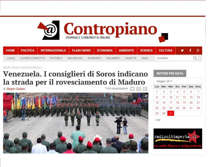 Venezuela. I consiglieri di Soros indicano la strada per il rovesciamento di Maduro – Contropiano