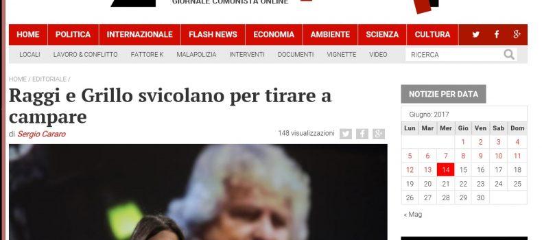 Raggi e Grillo svicolano per tirare a campare – L'editoriale di Contropiano