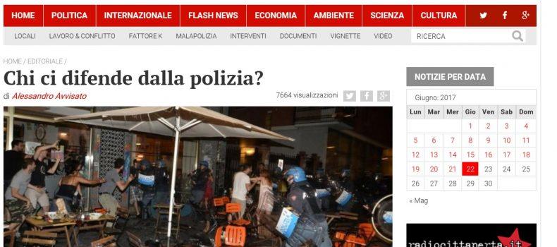 Chi ci difende dalla polizia? – L'editoriale di Contropiano