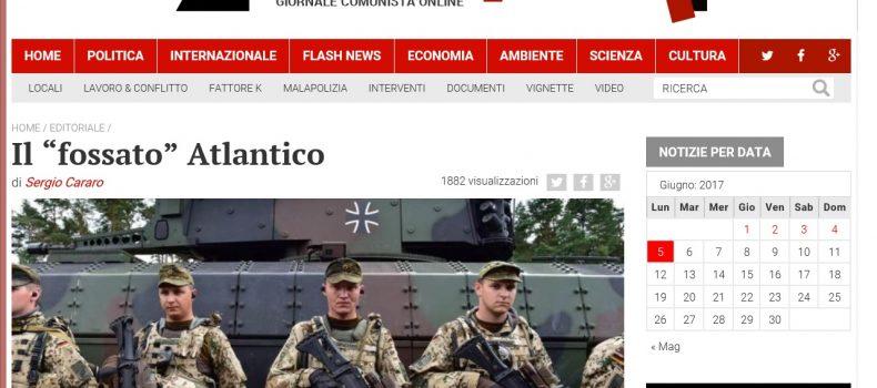 """Il """"fossato"""" Atlantico – L'editoriale di Contropiano"""