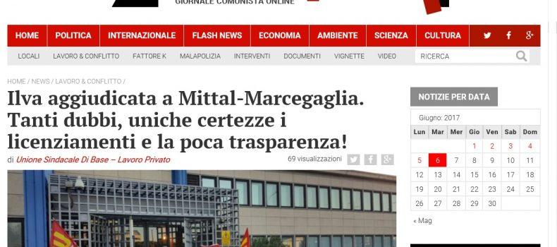Ilva aggiudicata a Mittal-Marcegaglia. Tanti dubbi, uniche certezze i licenziamenti e la poca trasparenza! – Contropiano