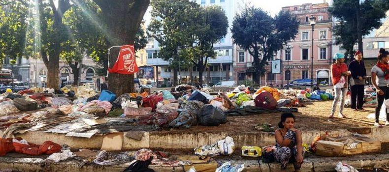 Roma: sgombero e cariche a Piazza Indipendenza