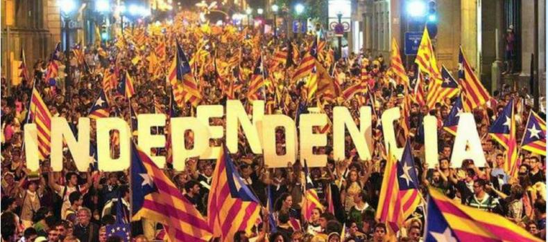 Presidio a Roma in solidarietà con il popolo catalano.