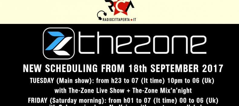 The-Zone – Martedì 19.09.17 – Primo show!
