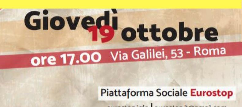 Roma: Assemblea Eurostop
