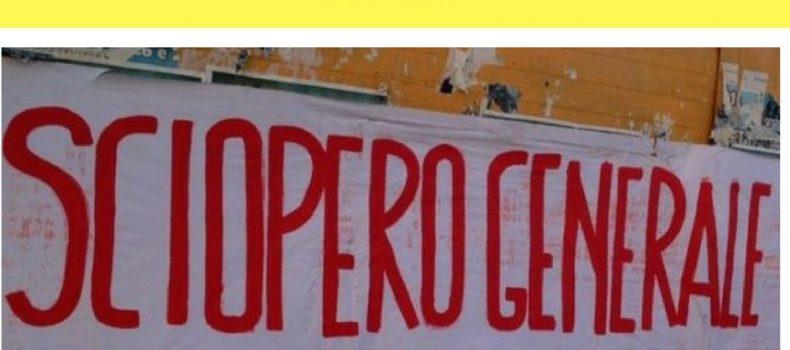 10 novembre: sciopero generale!