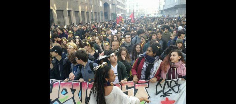 Giornata Mondiale dello Studente: manifestazione a Milano