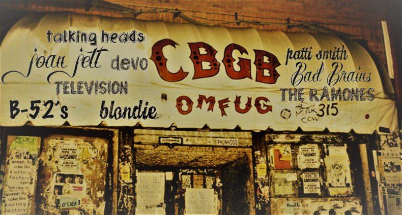 Breve storia con tracklist dedicata al CBGB, il leggendario locale di New York che vide la nascita del movimento punk, della new wave e del NYHC.