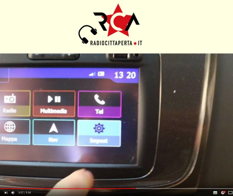 Come si ascolta Radio Città Aperta in Automobile?