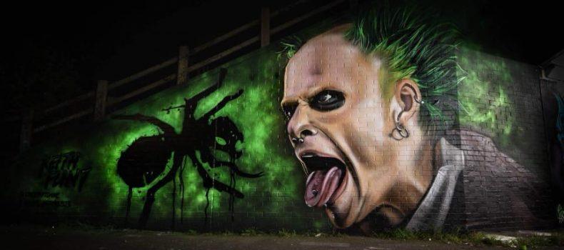 Il murales di Nyces dedicato a Keith Flint