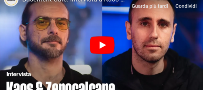 Il video dell'intervista a Kaos e Zerocalcare, ospiti di Basement Cafè