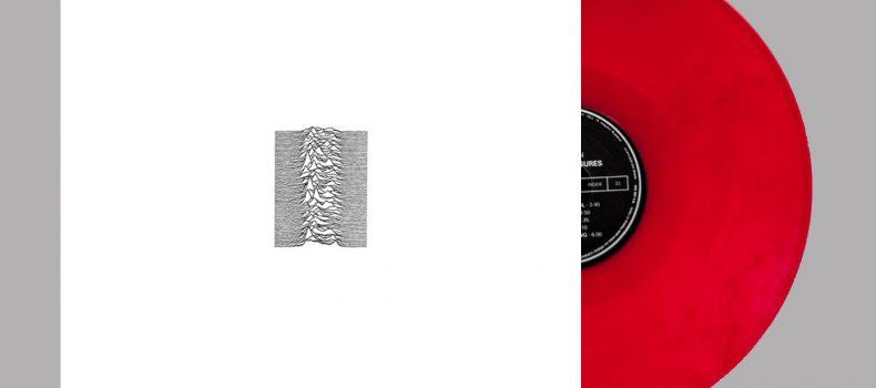 """Un vinile 180g rosso rubino per il 40°anniversario di """"Unknown Pleasures"""""""