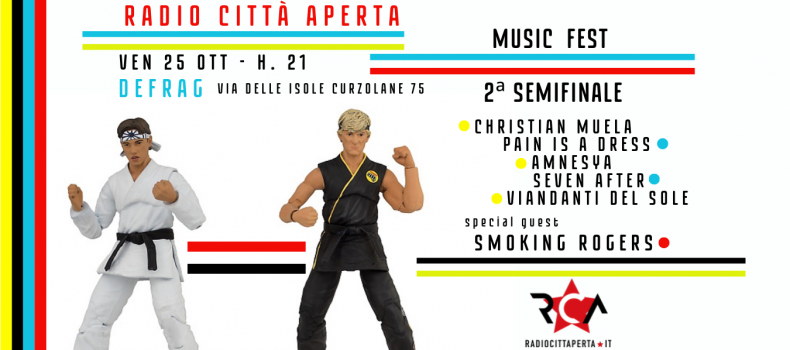 Radio Città Aperta Music Fest – 25 Ottobre seconda semifinale