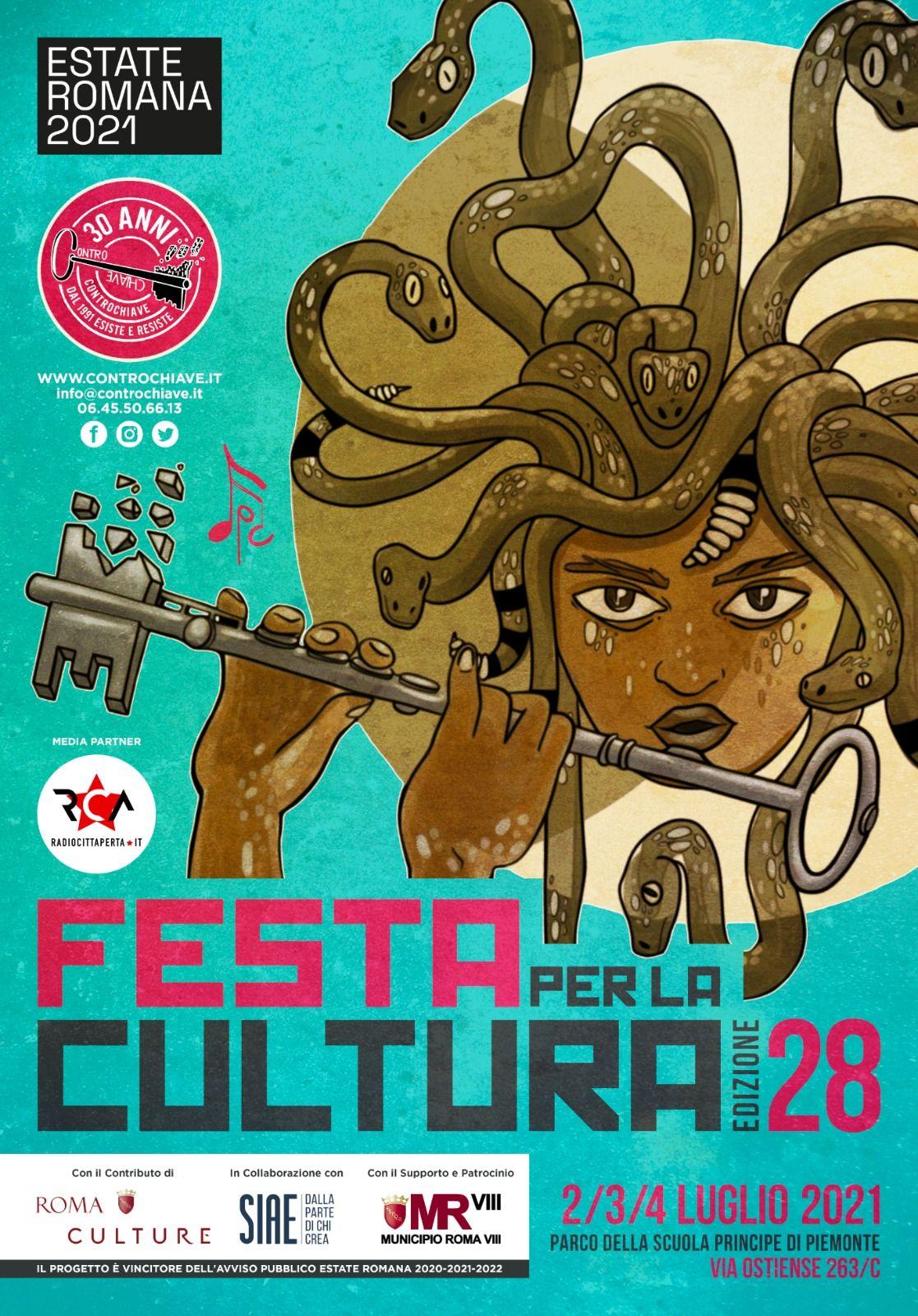 Radio città aperta media partner della Festa per la Cultura 2021