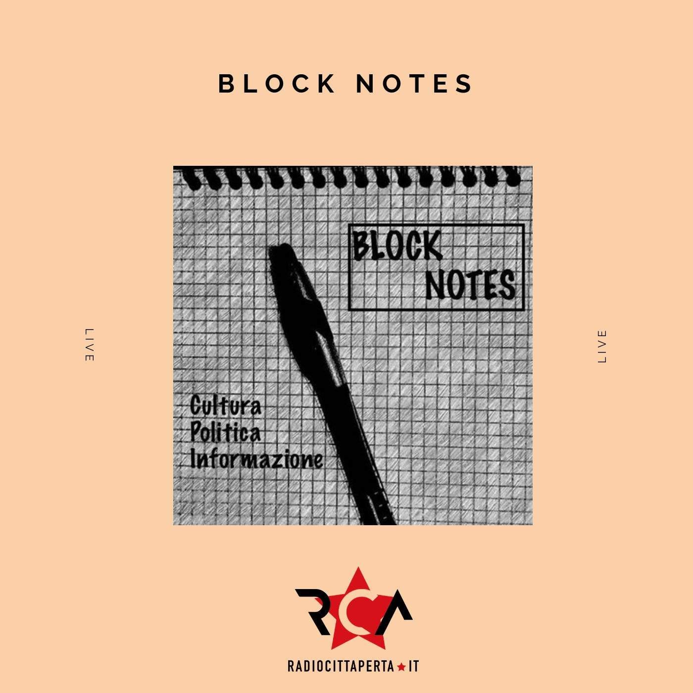 BLOCK NOTES con ALESSIO RAMACCIONI del 12-11-2019